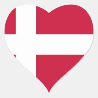 Adesivo Coração Baixo custo! Bandeira de Dinamarca