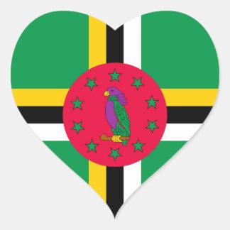Adesivo Coração Baixo custo! Bandeira de Dominica