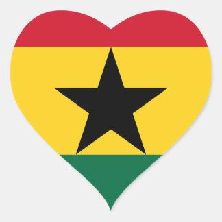 Adesivo Coração Baixo custo! Bandeira de Ghana