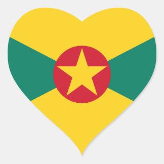 Adesivo Coração Baixo custo! Bandeira de Grenada