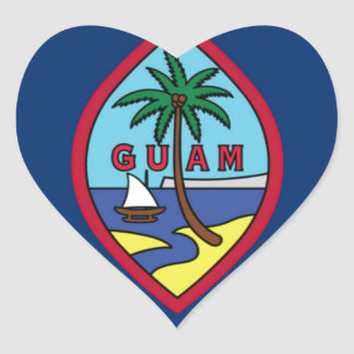 Adesivo Coração Baixo custo! Bandeira de Guam