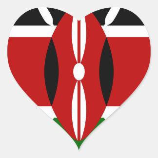 Adesivo Coração Baixo custo! Bandeira de Kenya