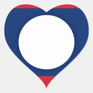 Adesivo Coração Baixo custo! Bandeira de Laos