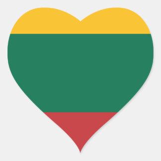 Adesivo Coração Baixo custo! Bandeira de Lithuania