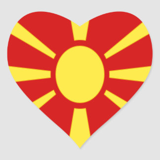 Adesivo Coração Baixo custo! Bandeira de Macedónia
