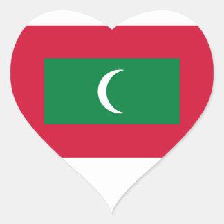 Adesivo Coração Baixo custo! Bandeira de Maldives