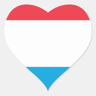 Adesivo Coração Baixo custo! Luxembourg embandeira