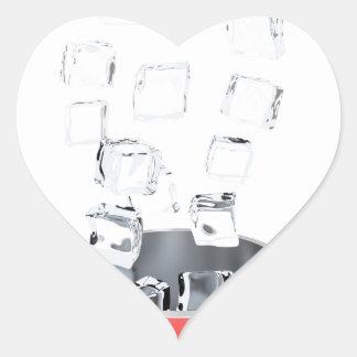 Adesivo Coração Balde de gelo