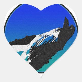 Adesivo Coração Baleia