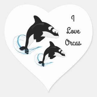 Adesivo Coração baleias