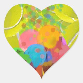 Adesivo Coração Balões dos vidros das bolas