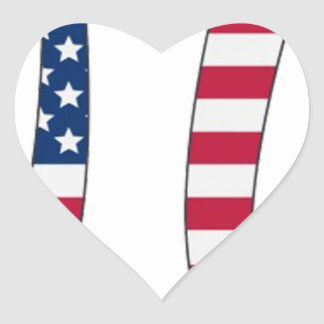 Adesivo Coração Bandeira americana do dia do Pi, símbolo do pi