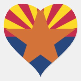 Adesivo Coração Bandeira da arizona