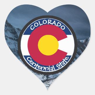 Adesivo Coração Bandeira da circular de Colorado