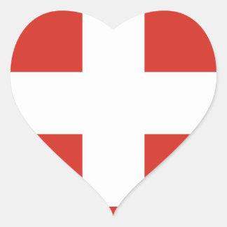 Adesivo Coração Bandeira da suiça - morre o der Schwe de