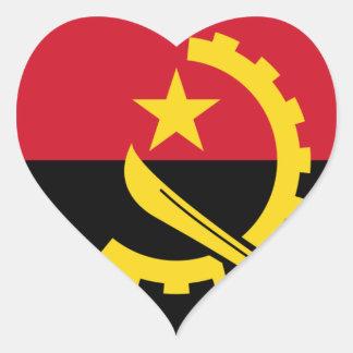 Adesivo Coração Bandeira de Angola - Bandeira de Angola