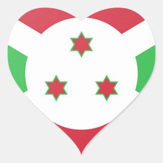 Adesivo Coração Bandeira de Burundi
