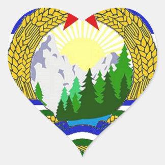 Adesivo Coração Bandeira de Cascadia socialista