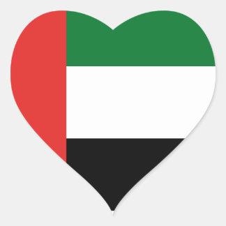 Adesivo Coração Bandeira de Emiradosarabes