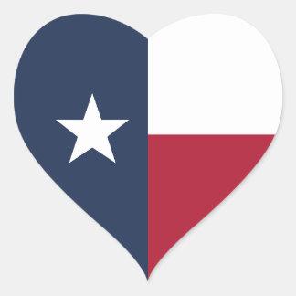Adesivo Coração Bandeira de Texas