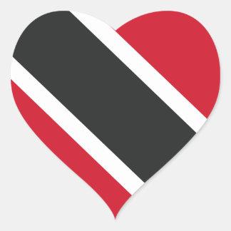 Adesivo Coração Bandeira de Trinidadtobago