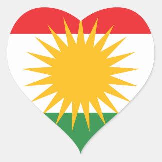 Adesivo Coração Bandeira do Curdistão; Curdo; Curdo