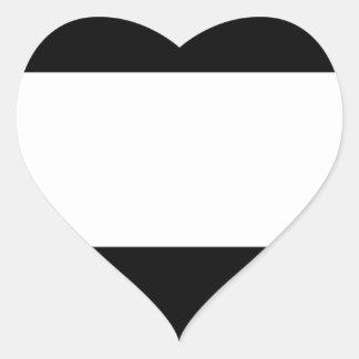 Adesivo Coração Bandeira incorporada do logotipo
