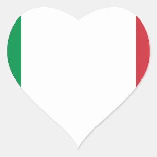 Adesivo Coração Bandeira italiana - bandeira de Italia - Italia