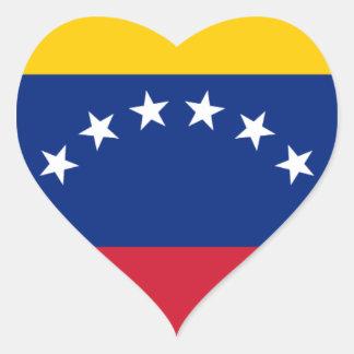 Adesivo Coração Bandeira venezuelana - bandeira de Venezuela -