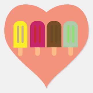 Adesivo Coração Bar do sorvete