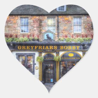 Adesivo Coração Bar Edimburgo de Greyfriars Bobby