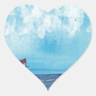 Adesivo Coração Barco de pesca