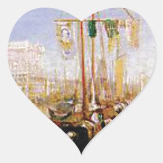 Adesivo Coração barco sem velas