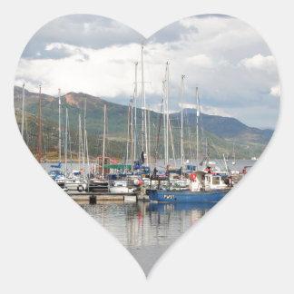 Adesivo Coração Barcos em Kyleakin, ilha de Skye, Scotland