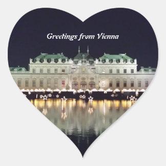 Adesivo Coração Belvedere bonito de Viena em dezembro