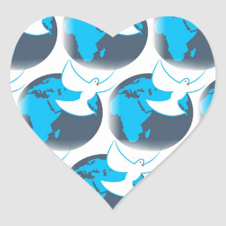 Adesivo Coração Bênção da terra do abstrato da pomba do Espírito