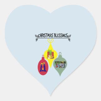 Adesivo Coração Bênção do Natal