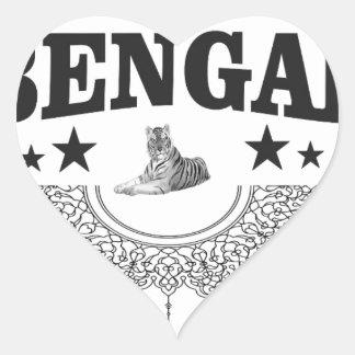 Adesivo Coração Bengal de assento