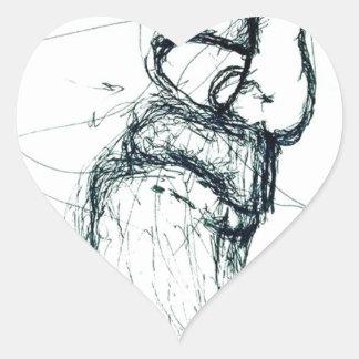 Adesivo Coração berço dos gatos do Lao-tzu'; s