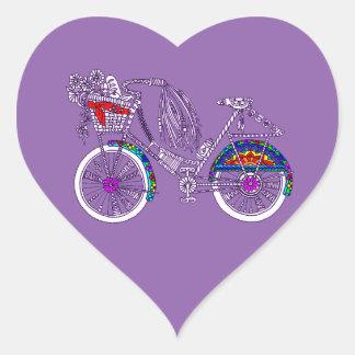 Adesivo Coração Bicicleta