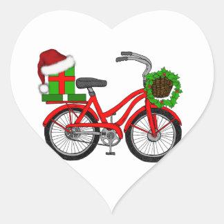 Adesivo Coração bicicleta do xmas