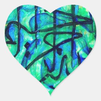 Adesivo Coração Bismillah