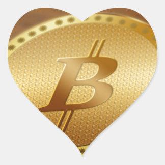 Adesivo Coração Bitcoin 2