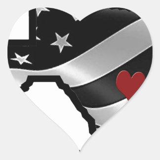 Adesivo Coração Bk rd branco do design de Harvey