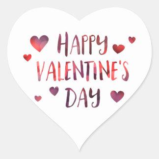 Adesivo Coração bokeh do feliz dia dos namorados