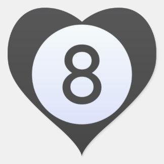 Adesivo Coração Bola 8