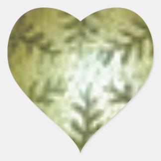 Adesivo Coração bola de creme com samambaias