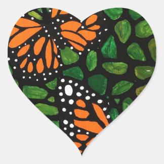 Adesivo Coração borboletas