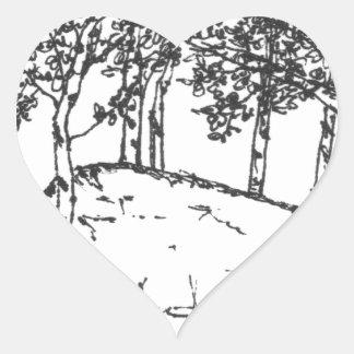 Adesivo Coração Bosque de Aspen