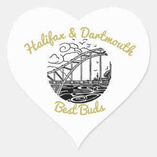 Adesivo Coração Botões dos melhores amigos de Nova Escócia Halifax